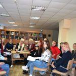 Наши спортсмены пообщались с донецкой поэтессой Галиной Боженко